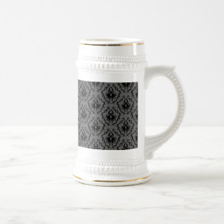 Stylish elegant pattern Black and Gray Damask Coffee Mug