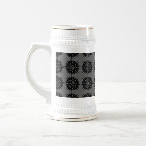 Stylish elegant pattern. Black and Gray. Mugs
