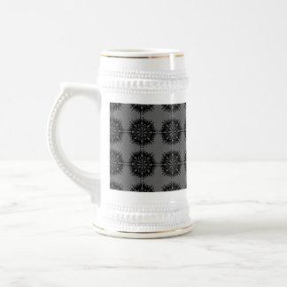 Stylish elegant pattern Black and Gray Mugs