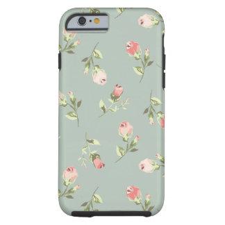 Stylish Elegant Vintage Rose Tough iPhone 6 Case