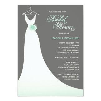 Stylish Elegant Wedding Gown Bridal Shower Invite