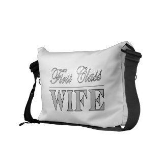 Stylish Elegant Wives First Class Wife Courier Bags