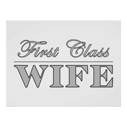 Stylish Elegant Wives : First Class Wife Posters