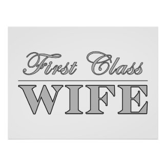 Stylish Elegant Wives First Class Wife Posters