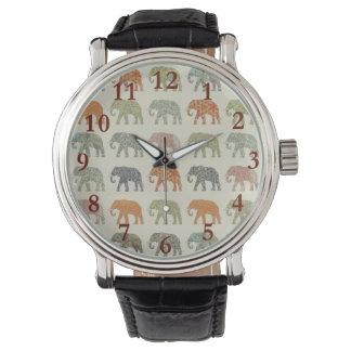 Stylish Elephant Pattern Watch