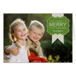 Stylish Embellishment Christmas  Photo Card Greeting Cards