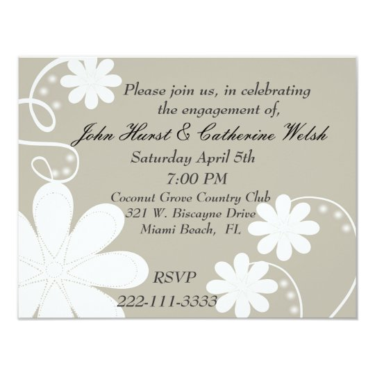 Stylish engagement party Invitation