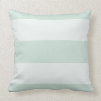 Stylish-Estate-Celadon-Stripe-White-Square Cushion