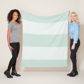Stylish-Estate-Celadon-White-Stripes-Fleece-S M L Fleece Blanket