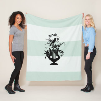 Stylish-Estate-Fleece-Celadon-White-Fleece-S M L Fleece Blanket