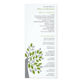 Stylish Fall Green Tree Wedding Program