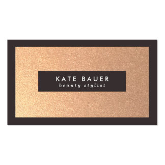 Stylish Faux Copper Beauty and Fashion Pack Of Standard Business Cards