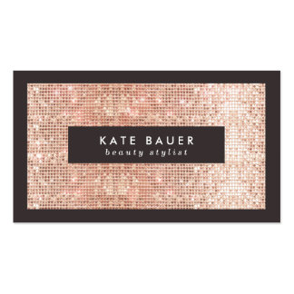 Stylish Faux Copper Sequin Beauty and Fashion Pack Of Standard Business Cards