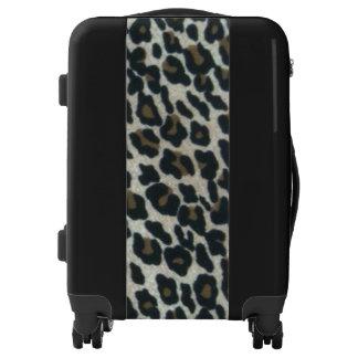 Stylish Faux Leopard Print Luggage