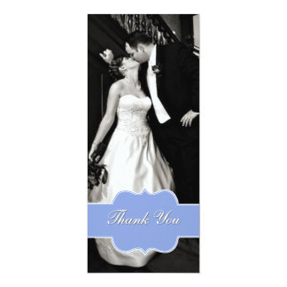 Stylish Flat Photo Wedding Thank You Card