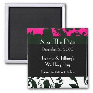 Stylish Fleur Elegant Save the Date Magnet
