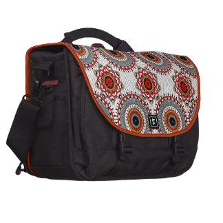 Stylish Floral Circles Patterned Laptop Shoulder Bag
