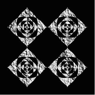 Stylish Floral Design. Gray, Black, White. Photo Sculpture Magnet