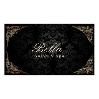 Stylish Floral Framed Damask Salon & Spa Pack Of Standard Business Cards