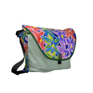 Stylish Floral Watercolour Messenger Bag