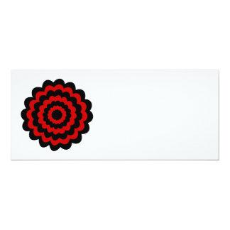 Stylish Flower in Black and Dark Red. Custom Invite