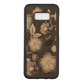 Stylish Flowers Custom Wooden Samsung S8 Case