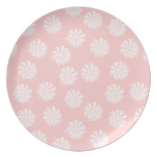 Stylish Flowers in Pink Dinner Plates