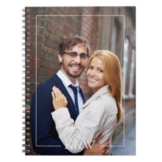 Stylish Frame Monogram Wedding Planner Notebook