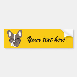 Stylish french bulldog bumper sticker