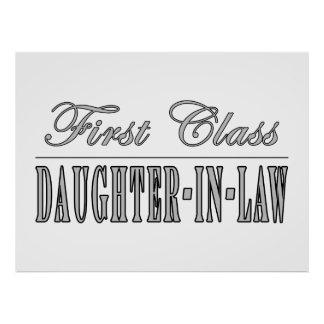 Stylish Fun Gifts First Class Daughter in Law Poster