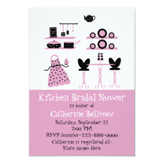 Stylish Fun Kitchen Bridal Shower Invitation