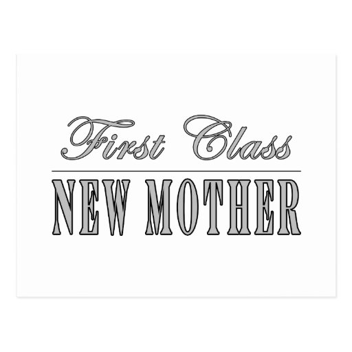 Stylish Fun New Moms : First Class New Mother Post Cards
