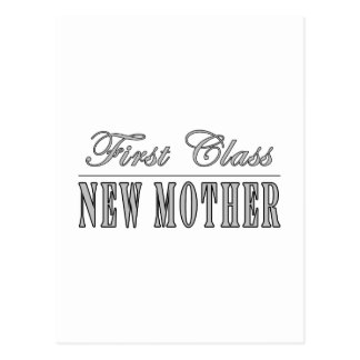 Stylish Fun New Moms : First Class New Mother Postcard