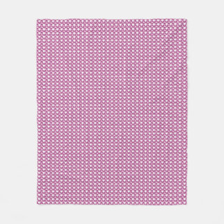 """Stylish Gems"" Plum-Pink-Gems_Designer-Fabric Fleece Blanket"