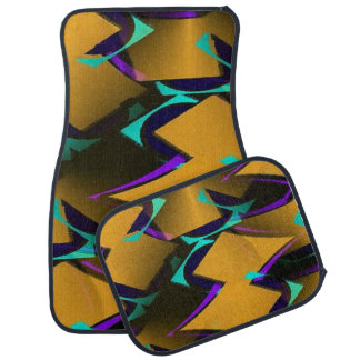 Stylish Geometric Abstract Set of 4 Car Mats