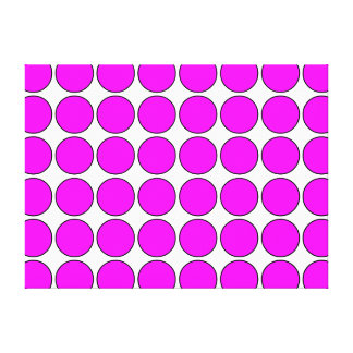 Stylish Gifts for Girls : Pink Polka Dots on White Gallery Wrapped Canvas
