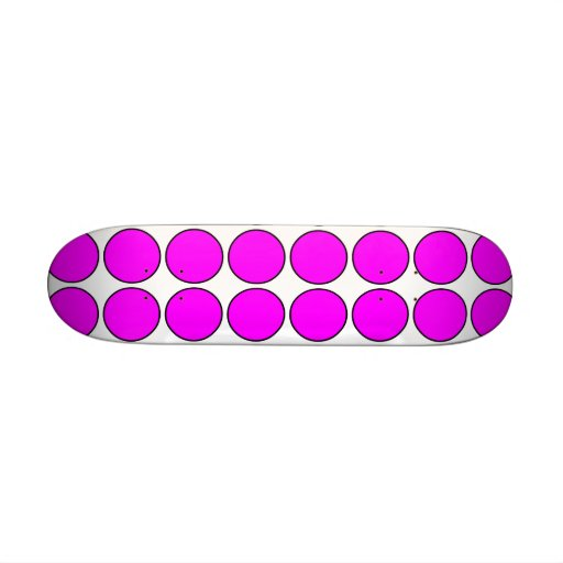 Stylish Gifts for Girls : Pink Polka Dots on White Skateboard