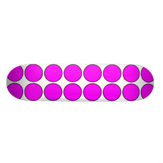 Stylish Gifts for Girls : Pink Polka Dots on White Skate Board Deck