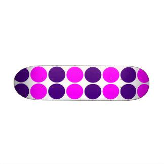 Stylish Gifts for Girls : Pink & Purple Polka Dots 18.1 Cm Old School Skateboard Deck