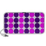 Stylish Gifts for Girls : Pink & Purple Polka Dots Laptop Speaker