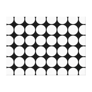 Stylish Gifts for Girls : White Polka Dots Canvas Print