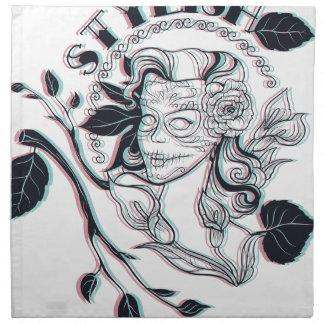 stylish girl cute design napkin