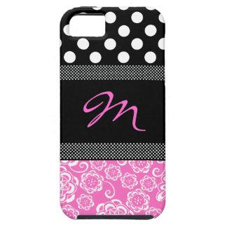 Stylish Girly Monogram iphone 5 Case