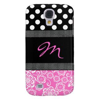 Stylish Girly Monogram Samsung Galaxy S4 Case