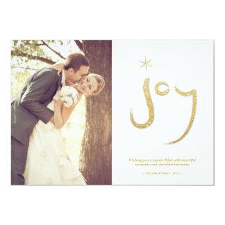 Stylish Glam Gold Glitter Joy Photo Greetings 13 Cm X 18 Cm Invitation Card