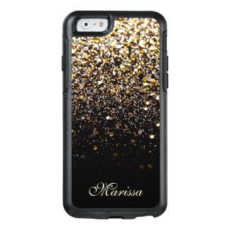 Stylish Gold Black Glitter OtterBox iPhone 6 Case