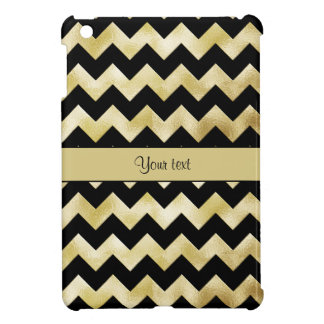 Stylish Gold & Black ZigZags iPad Mini Covers