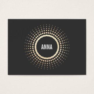 Stylish Gold Circle Logo, Modern Designer, Black