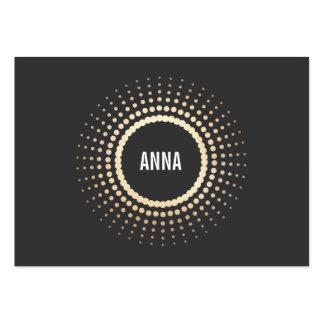 Stylish Gold Circle Logo, Modern Designer, Black Pack Of Chubby Business Cards
