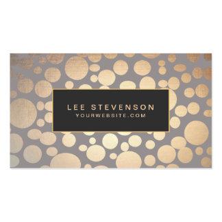 Stylish Gold Circle Pattern Beauty Salon Pack Of Standard Business Cards
